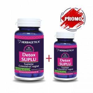 Detox Suplu 60 cps + 10 cps promo, Herbagetica