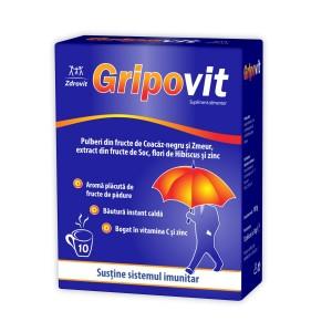 Gripovit, 10 plicuri, Zdrovit