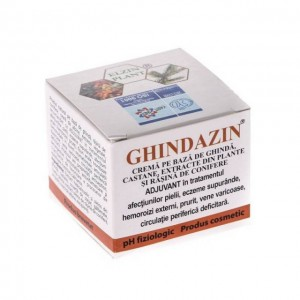 Crema extract de ghinda, castane si conifere Ghindazin, 50 ml, Elzin Plant