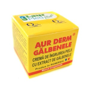 Crema cu galbenele Aur Derm, 50 ml, Laur Med Plant