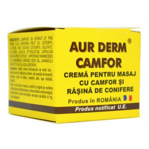 Crema pentru masaj cu camfor si rasina Aur Derm, 50 ml, Laur Med Plant