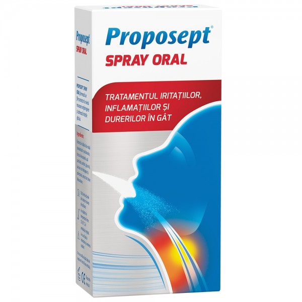 Proposept spray oral, 20 ml, Fiterman Pharma