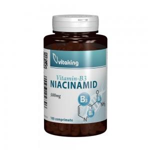 Vitamina B3 (Niacinamida) 500mg, 100 cpr, Vitaking