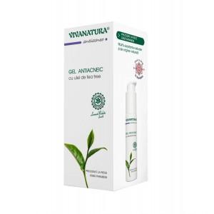 Gel antiacneic cu ulei de tea tree, 50 ml, VivaNatura