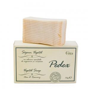 Săpun vegetal Pedex cu uleiuri esențiale de rozmarin și cuișoare, 75 g, Herbagen