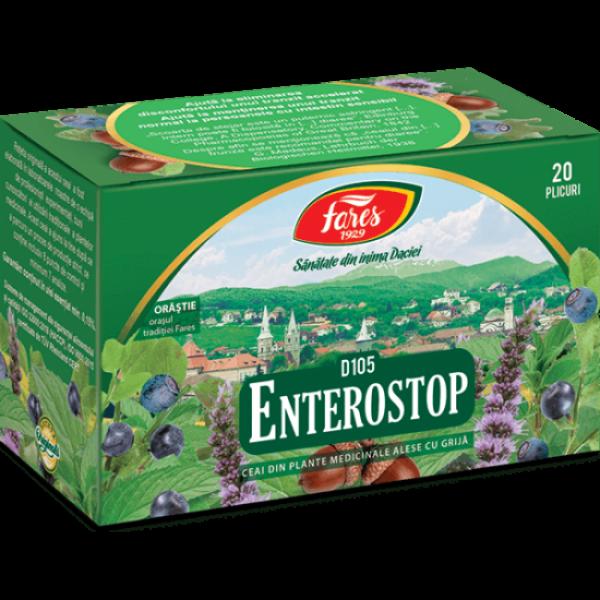 Ceai Enterostop, D105, 20 plicuri, Fares