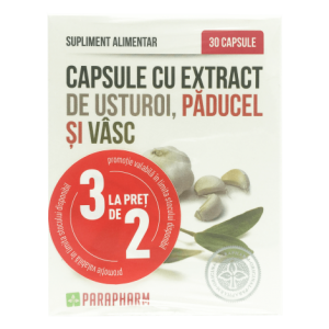 Extract de Usturoi cu Păducel și Vâsc, 30 capsule (2+1), Parapharm