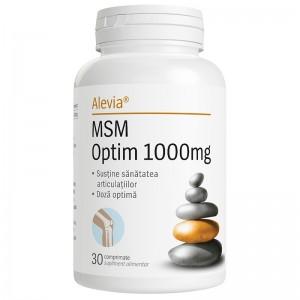 MSM Optim 1000mg, 30 comprimate, Alevia