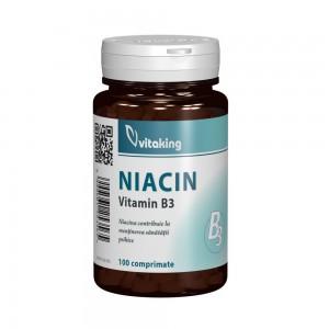 Vitamina B3 (niacina) 100mg, 100 comprimate, Vitaking