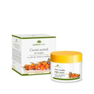 Cremă antirid de noapte cu ulei de cătină şi măsline, 50 ml, Cosmetic Plant
