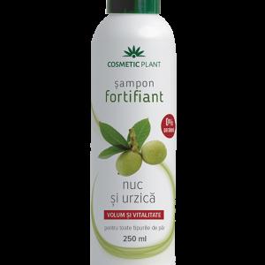 Şampon fortifiant cu nuc şi urzică, 250 ml, Cosmetic Plant
