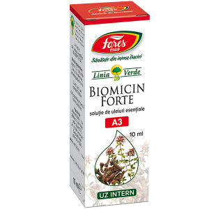 Biomicin Forte A3 soluție, 10 ml, Fares