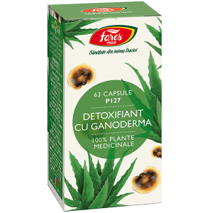 Detoxifiant cu ganoderma, P127, 63 capsule vegetale, Fares