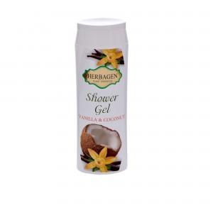 Gel de duș cu vanilie și cocos, 250 ml, Herbagen