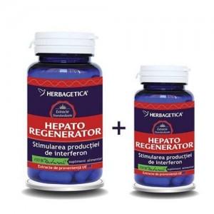 Hepato regenerator 60 cps + 10 cps promo, Herbagetica