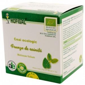 Ceai Ecologic, frunze de roinita, 25 plicuri, Hofigal