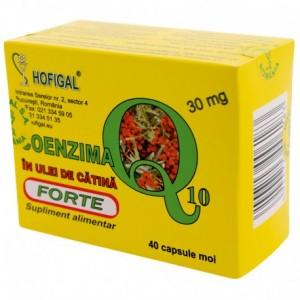 Coenzima Q10 in ulei de catina forte 30 mg, 40 capsule moi, Hofigal