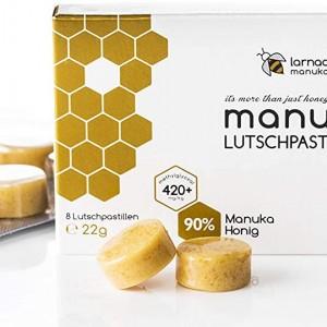 Tablete pentru supt cu 90%  Miere Manuka Manuka Larnac
