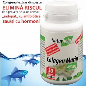 Colagen marin 400mg 30 capsule NaturHelp