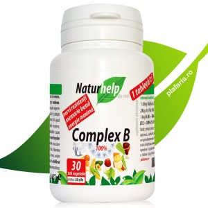 COMPLEX DE VITAMINE B, 30 TABLETE VEGETALE NATURHELP