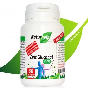 ZINC GLUCONAT 25MG 30 TABLETE NATURHELP