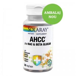 AHCC PLUS  NAC & BETA GLUCAN 30 CPS, SECOM