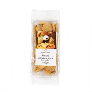 Biscuiți Animăluțe vesele fără zahăr, Bio 140g Longevita, Solaris Plant