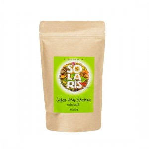 Cafea Verde Arabica macinata 250g, Solaris Plant
