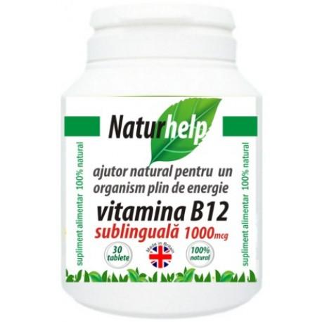 Vitamina B12 sublinguala, NaturHelp